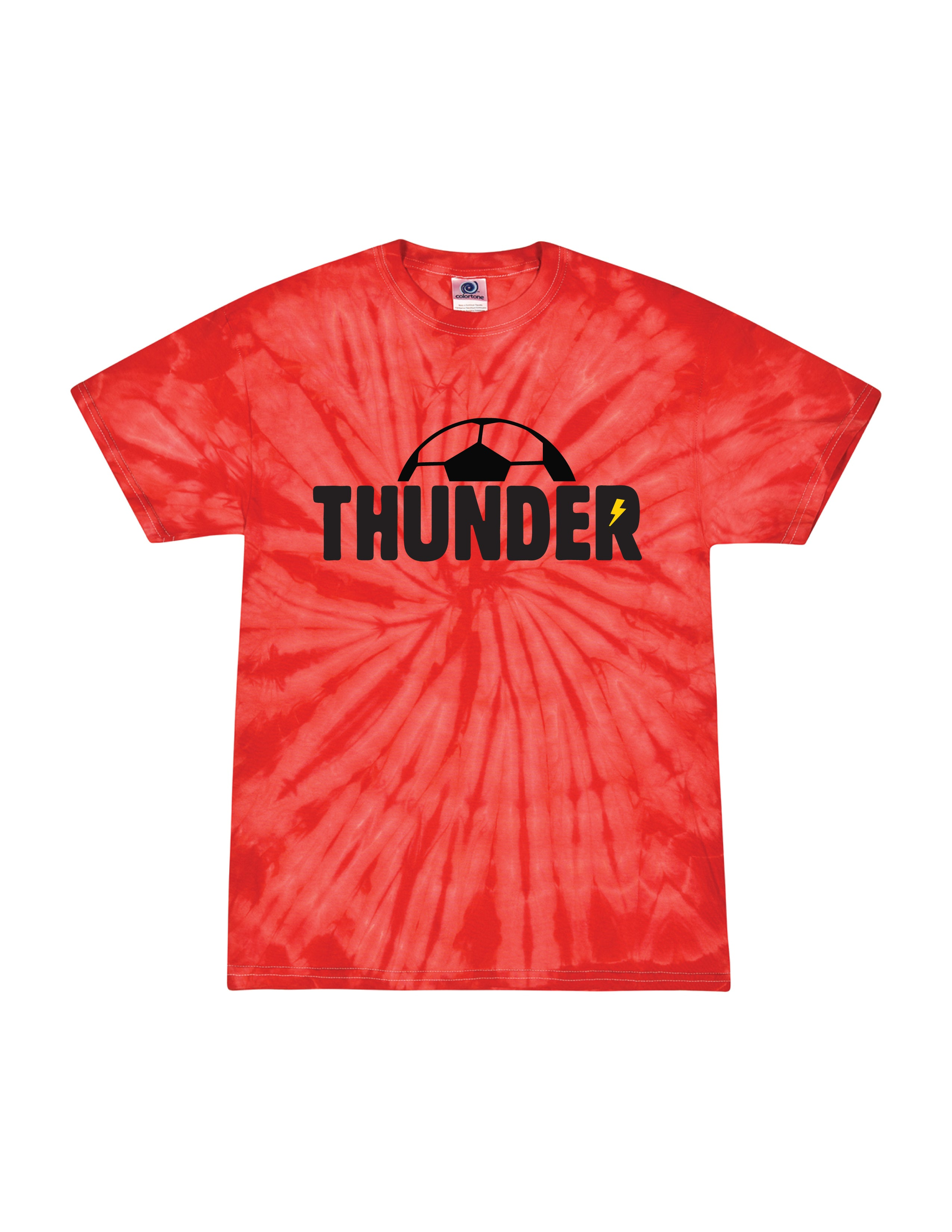 Boys Thunder Red Tie-Dye T-Shirt- Adult Unisex and Youth