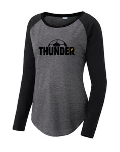 Thunder Long Sleeve Women's Cut Scoop Neck Raglan