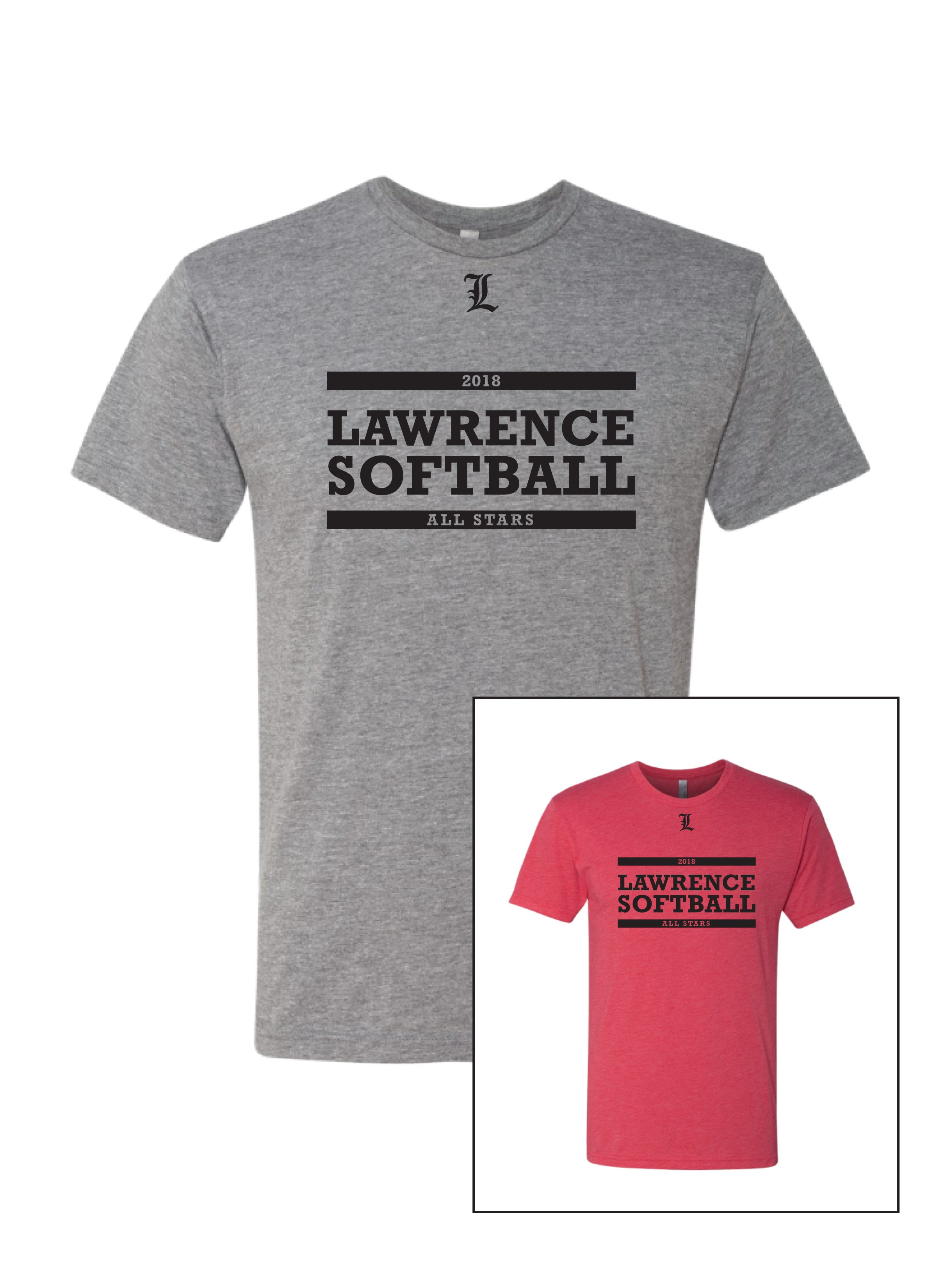 Lawrence Softball Unisex Triblend Crew Tee