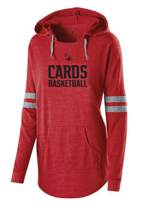 Cards Basketball Ladies Holloway Hoodie- Red