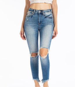 Distressed Light Wash Jeans