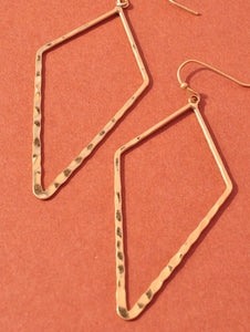 Hammered Geometric Earrings (more colors)