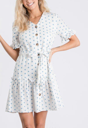 Boho Polka Dot Dress