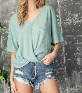 Twisted Hem Top