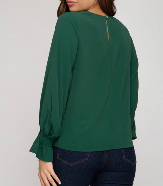 Long Bubble Sleeve Top