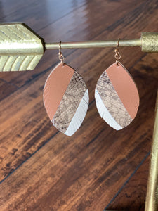 Leaf Shaped Earrings (more colors)