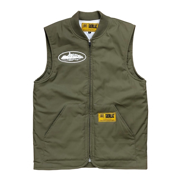 GUERILLA GREEN QUILTED VEST