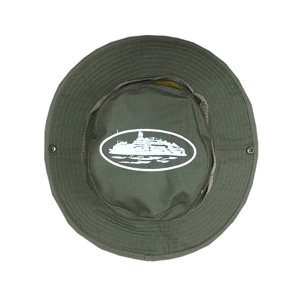 GUERILLA GREEN BUCKET HAT