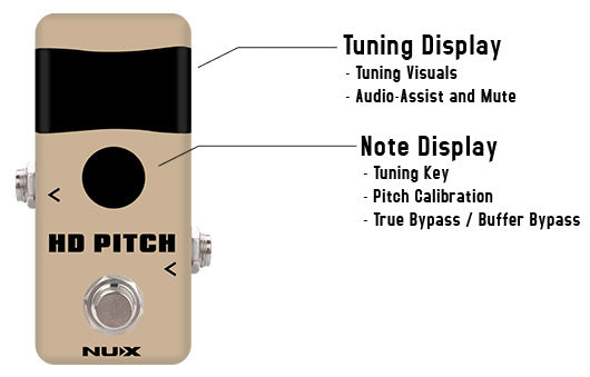 NUX NTU-2 HD PITCH TUNER