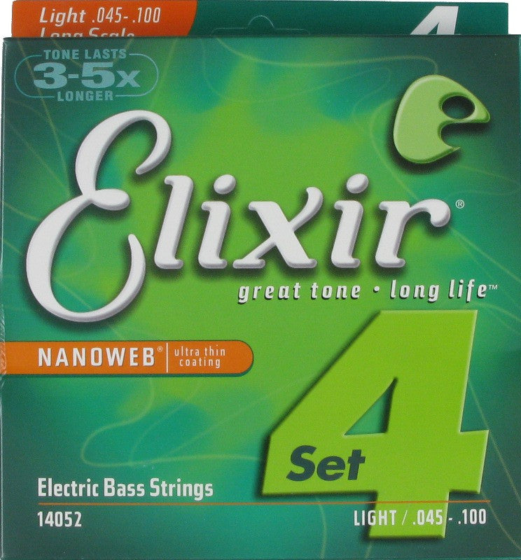 Elixir 14002, 4-strengs, Long Scale, 040-095