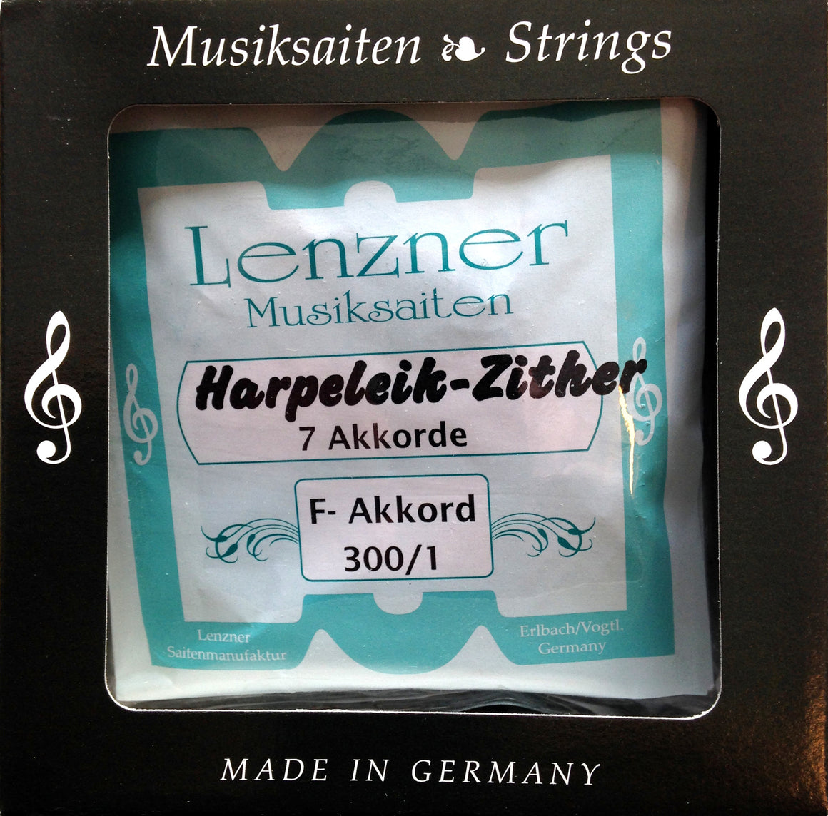 Lenzner strengesett for Harpeleik-Zither