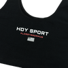HDY SPORT CROPPED TANK BLACK