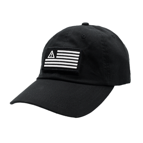 FLAG VELCRO PATCH HAT BLACK