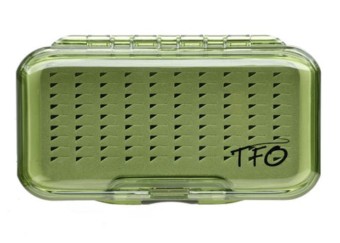 TFO - S/S Waterproof Fly Box - Olive - Slit Foam