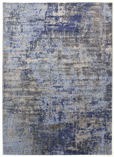 Momo Modern Abstract Blue Rug