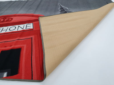 Telephone Box - Rubber backing