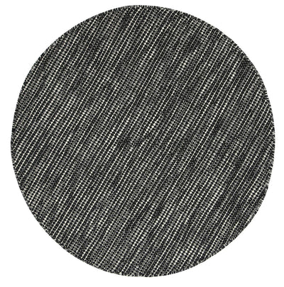 Nordic Black & White Wool Round Rug