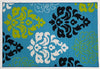 Damask Teal - Rubber backing