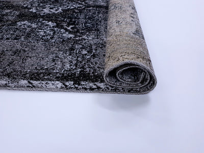 Frisee Rug 106A BLACK/L.GREY