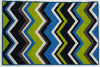Multi Chevron Teal Lime- Rubber backing