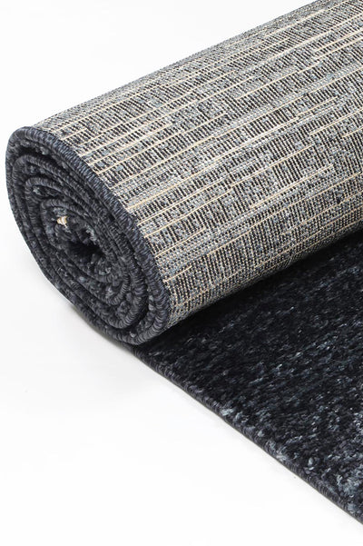 Plain rug Anthracite