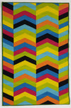 Multi Chevron - Rubber backing