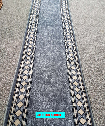 Hall way Runners - Rubber Backing