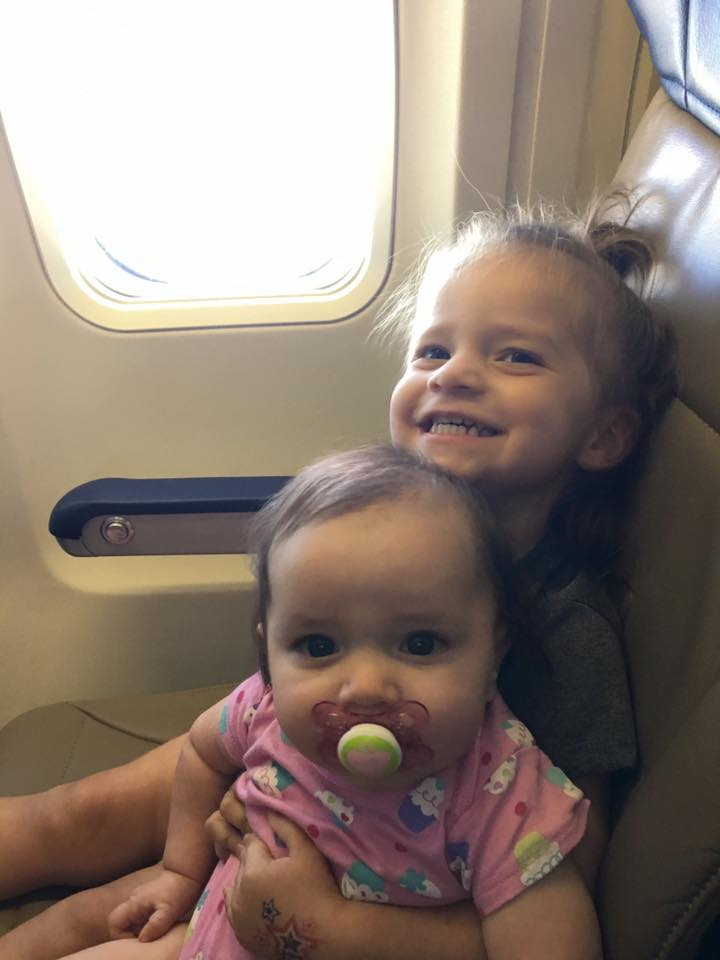 How to survive flying with kids