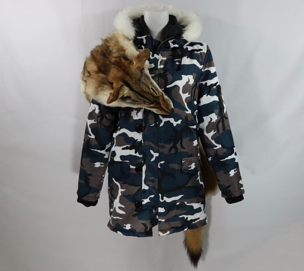 Coyote Snow Camo Parka