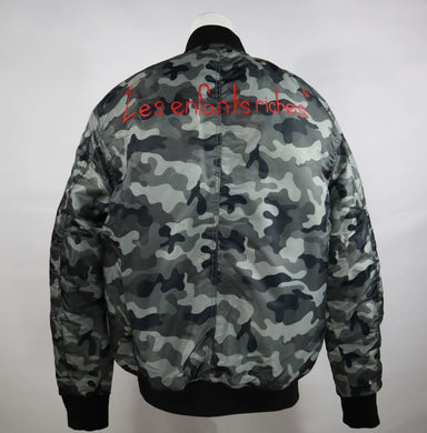 Dangerous Spiked Camo Bomber
