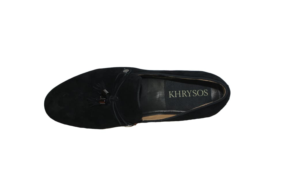 Onyx Wood Sole Loafers