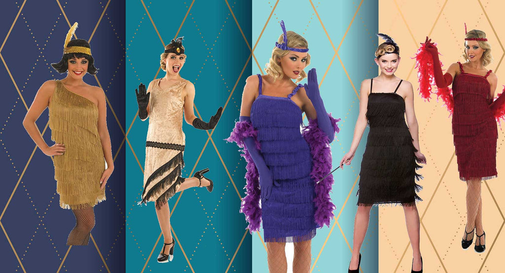 1920s Costumes, Flapper Dresses and Gangster Suits