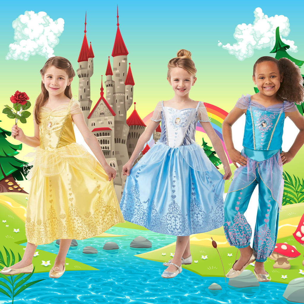 Kids Fairytale and Disney princess fancy dress costumes