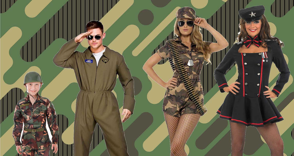 Kids and adults Army Costumes