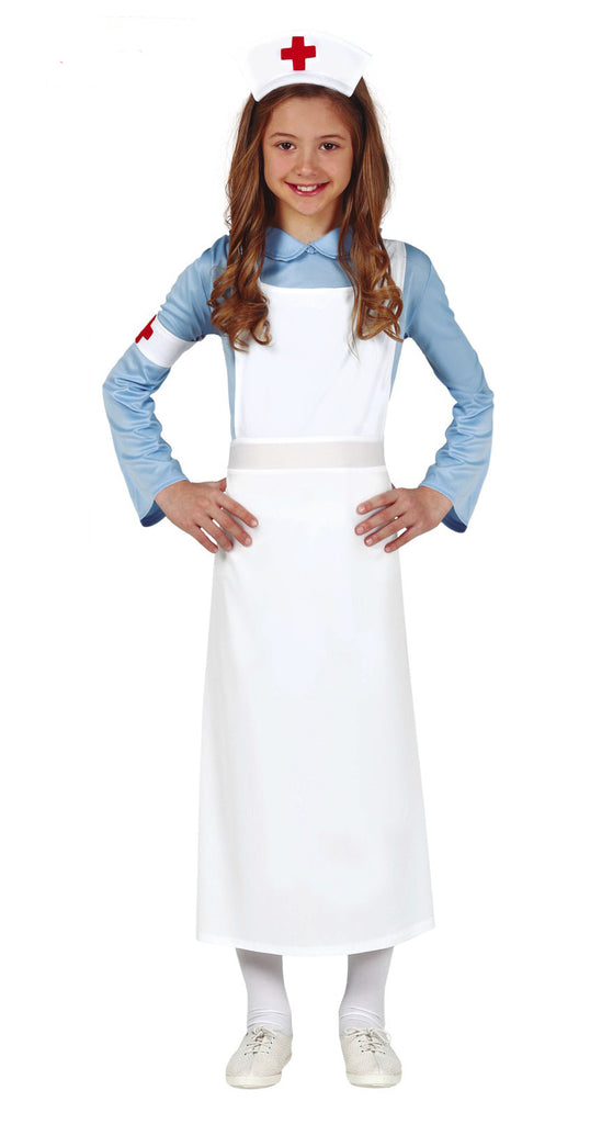 Children's 1940's Nurse Costume Girl