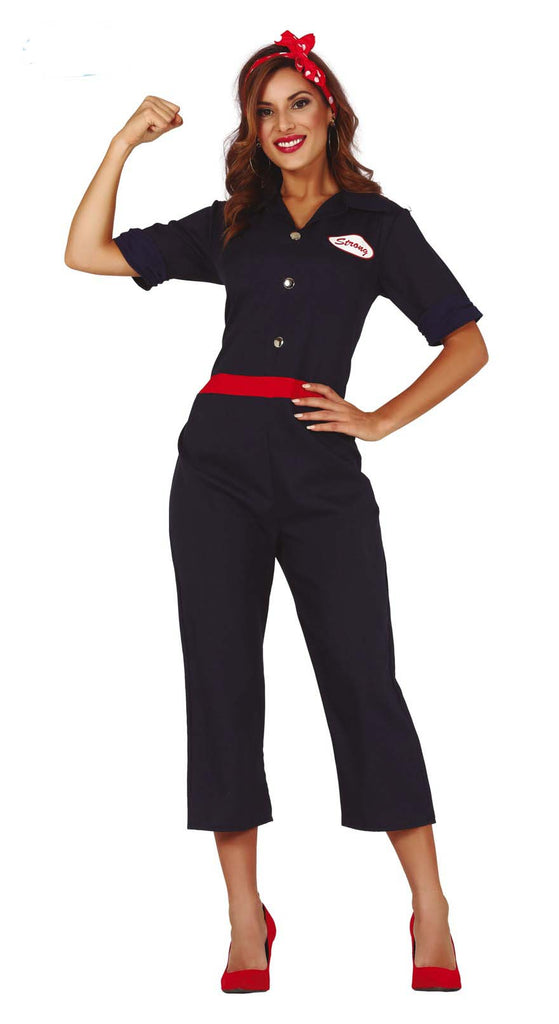 Adult 1940's Rosie the Riveter World war 2 Costume for women.