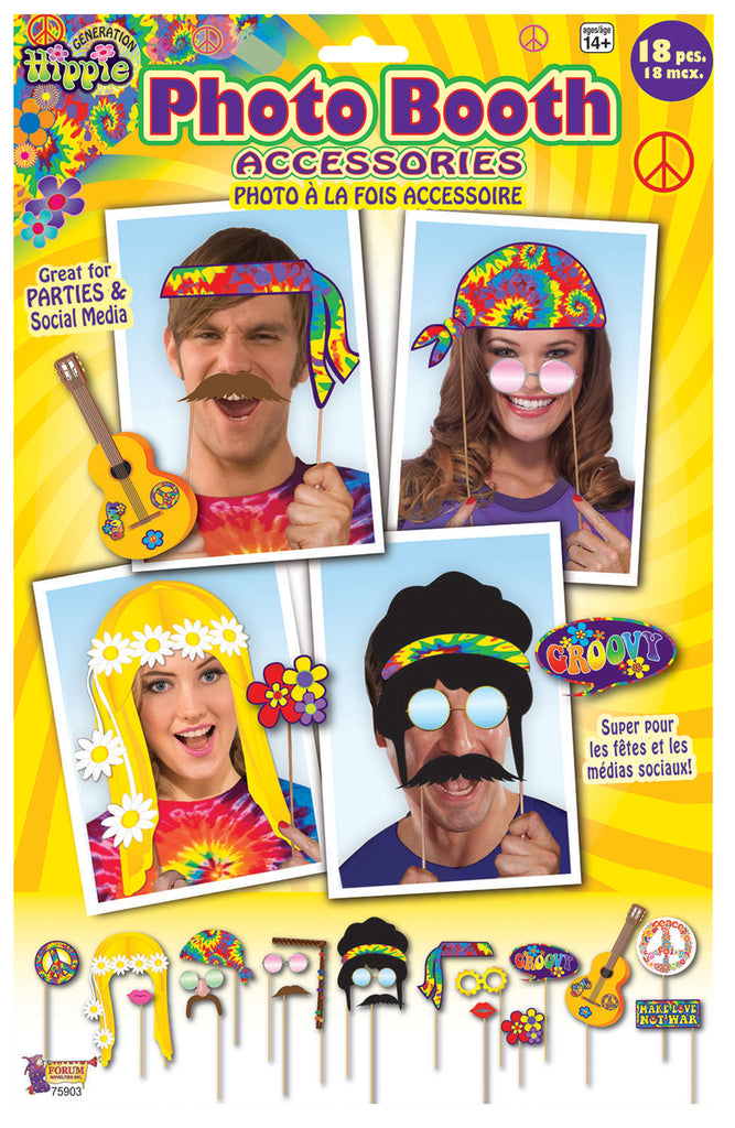 1960's Photo Booth Props Hippie Themed