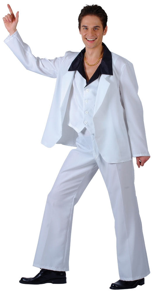 Ahhh ahh ahh ahh stayin' alive stayin' alive. Relive Saturday night fever with this 1970s inspired fancy dress 1970s Disco Fever Costume sure to get you owning the dance floor John Travota style.
