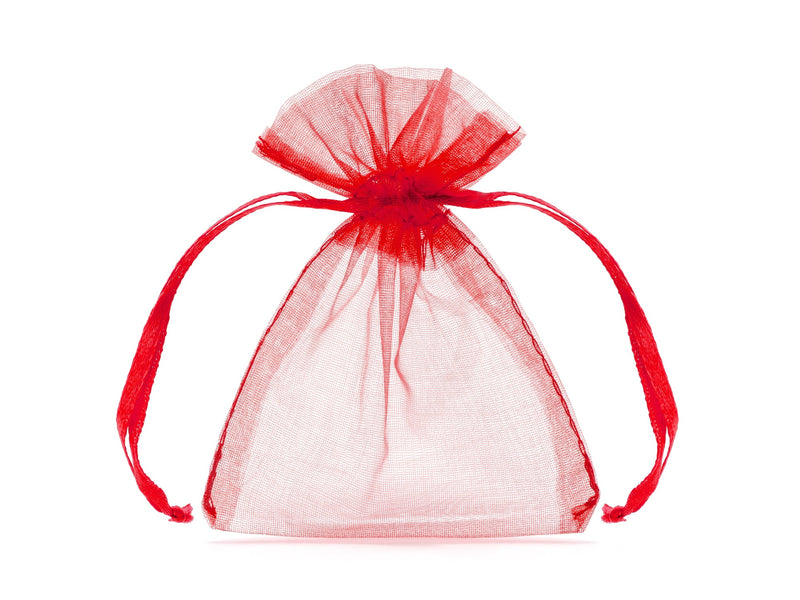 Red Organza Bags 7.5 X10cm