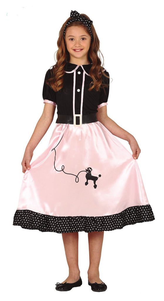 Child's 50's Pin Up Girl Fancy Dress Costume