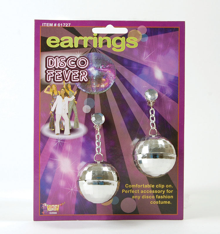 70s Disco Ball Costume Earrings