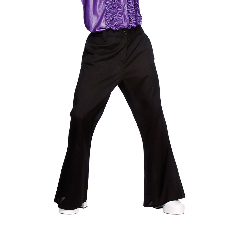 Men's 1970's Disco Flares Black