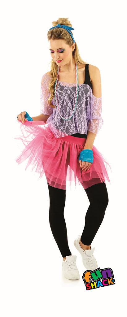 80's Lace Tutu Costume Kit