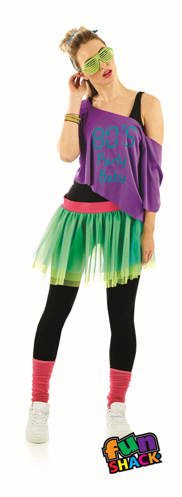 Ladies 1980's Print TuTu costume Kit