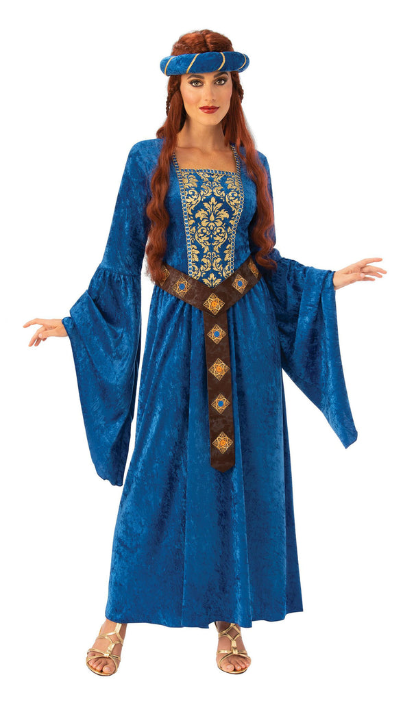 Adult Medieval Maiden Costume Blue for women
