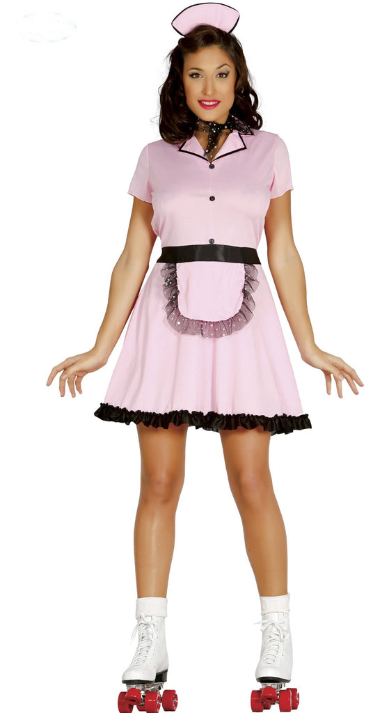 Adult 50's Roller Waitress Costume