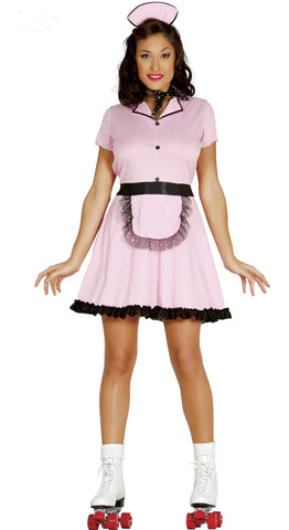 Rock up or roll up and serve up some food in style with this 50's Roller Waitress Costume.
