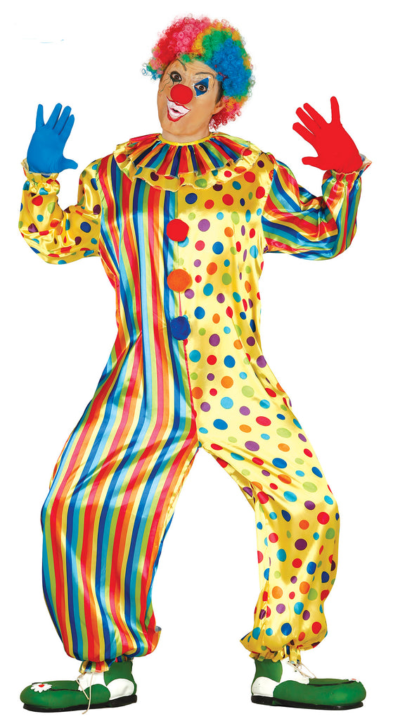 Adult Colourful Clown men's Costume