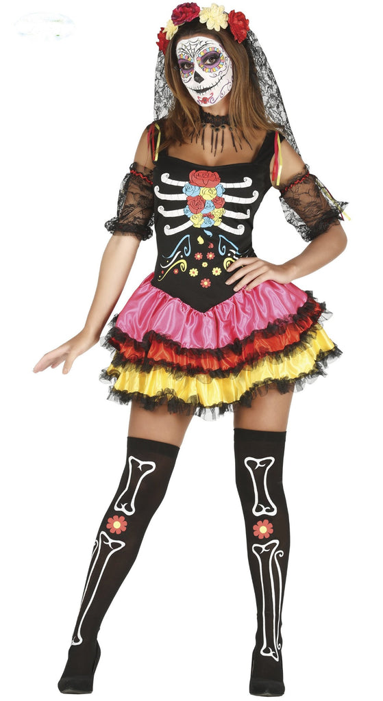 Adult Day Of The Dead Mexican Costume Woman
