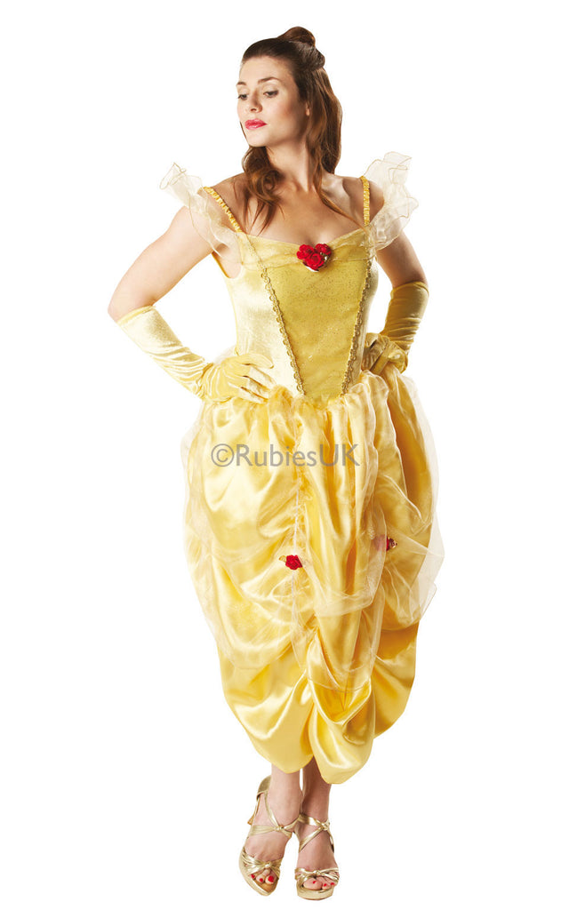 Dance the night away as the fairytale princess from the hit Disney film Beauty and the Beast in this Sparkle Belle fancy dress costume and your own fairy tale at your next fancy dress party.